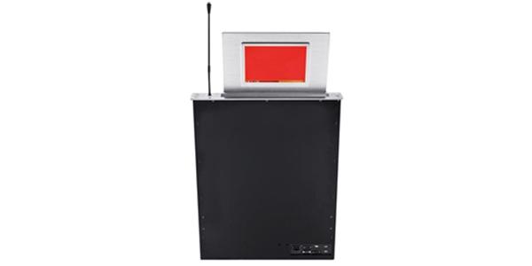 超薄触摸液晶升降显示器(双面屏带身份显示、带话筒升降)